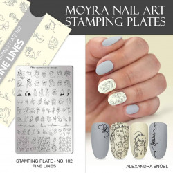 Stamping Plate 102 Fine Lines