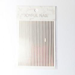 Nail Art Stripes ροζ χρυσό
