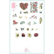 CJS58 Delicate Garden